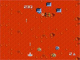 In game image of Zanac A.I. on the Nintendo NES.