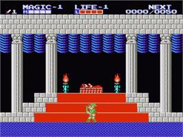 In game image of Zelda II: The Adventure of Link on the Nintendo NES.
