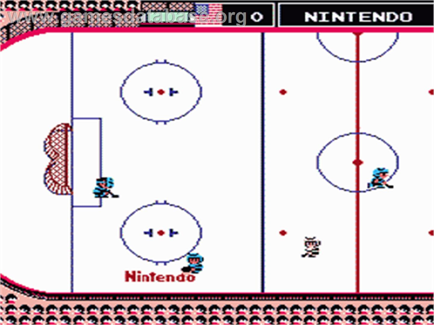 Ice Hockey - Nintendo NES - Artwork - In Game