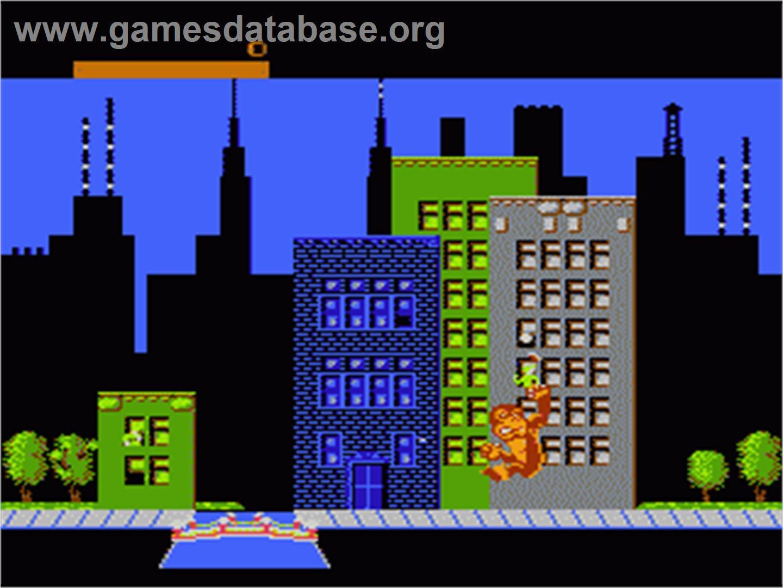 Rampage Nintendo Nes Artwork In Game