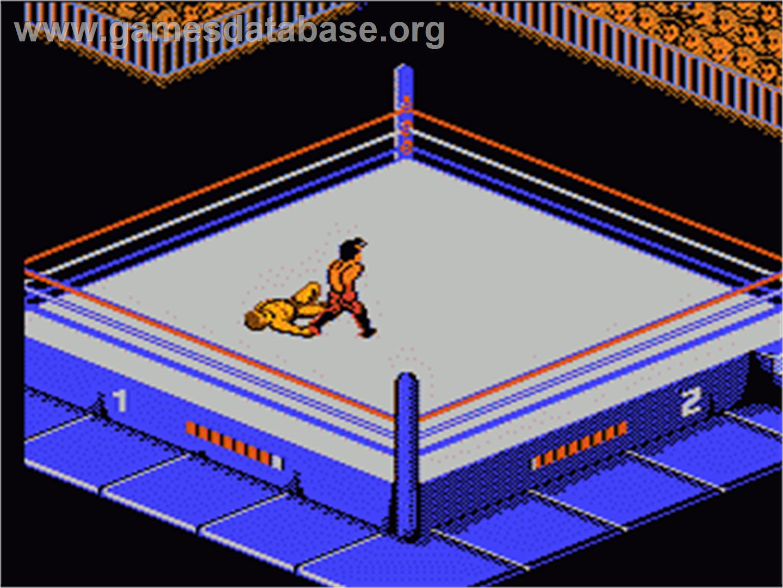 Wwf Wrestlemania Challenge Nintendo Nes Artwork In Game