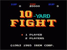 Title screen of 10-Yard Fight on the Nintendo NES.