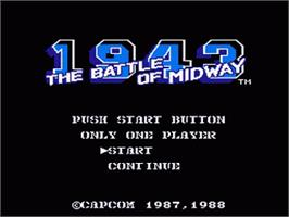 Title screen of 1943: The Battle of Midway on the Nintendo NES.