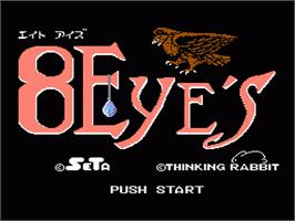 Title screen of 8 Eyes on the Nintendo NES.