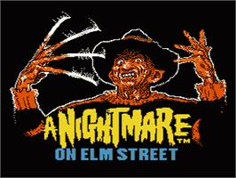 Title screen of A Nightmare on Elm Street on the Nintendo NES.