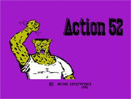 Title screen of Action 52 on the Nintendo NES.