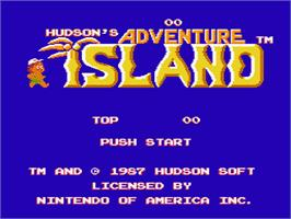 Title screen of Adventure Island on the Nintendo NES.