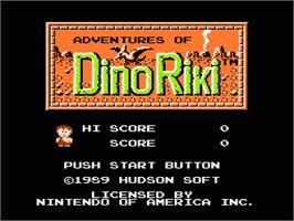 Title screen of Adventures of Dino-Riki on the Nintendo NES.