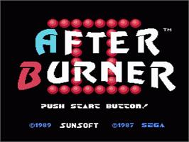 Title screen of After Burner on the Nintendo NES.