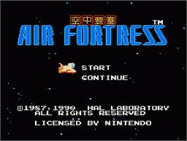 Title screen of Air Fortress on the Nintendo NES.