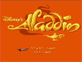Title screen of Aladdin on the Nintendo NES.