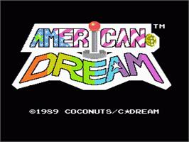 Title screen of American Dream on the Nintendo NES.