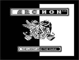 Title screen of Archon: The Light and the Dark on the Nintendo NES.