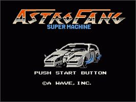 Title screen of Astro Fang: Super Machine on the Nintendo NES.