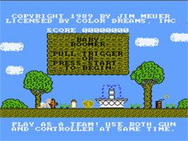 Title screen of Baby Boomer on the Nintendo NES.