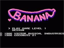 Title screen of Banana on the Nintendo NES.