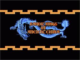 Title screen of Bandit Kings of Ancient China on the Nintendo NES.