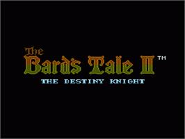 Title screen of Bard's Tale II: The Destiny Knight on the Nintendo NES.