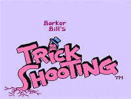 Title screen of Barker Bill's Trick Shooting on the Nintendo NES.