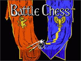 Title screen of Battle Chess on the Nintendo NES.