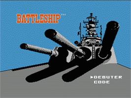 Title screen of Battleship on the Nintendo NES.
