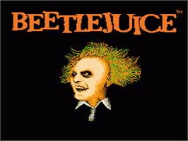 Title screen of Beetlejuice on the Nintendo NES.