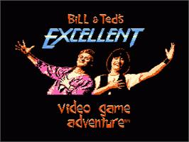 Title screen of Bill & Ted's Excellent Adventure on the Nintendo NES.