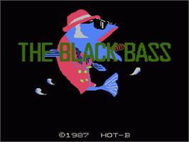 Title screen of Black Bass on the Nintendo NES.