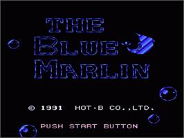 Title screen of Blue Marlin on the Nintendo NES.