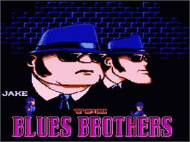 Title screen of Blues Brothers on the Nintendo NES.