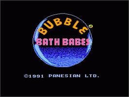 Title screen of Bubble Bath Babes on the Nintendo NES.