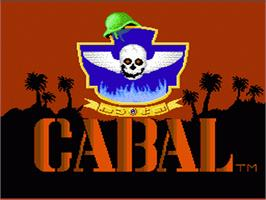 Title screen of Cabal on the Nintendo NES.