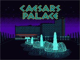 Title screen of Caesar's Palace on the Nintendo NES.