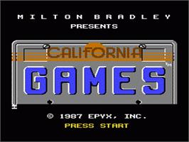 Title screen of California Games on the Nintendo NES.