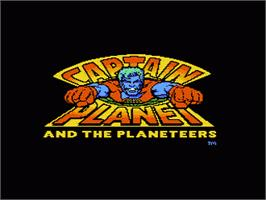 Title screen of Captain Planet and the Planeteers on the Nintendo NES.