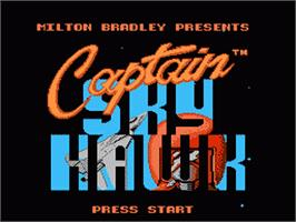 Title screen of Captain Sky Hawk on the Nintendo NES.