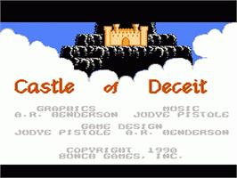 Title screen of Castle of Deceit on the Nintendo NES.
