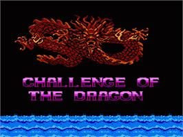 Title screen of Challenge of the Dragon on the Nintendo NES.