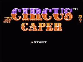 Title screen of Circus Caper on the Nintendo NES.