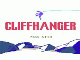 Title screen of Cliffhanger on the Nintendo NES.