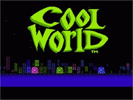 Title screen of Cool World on the Nintendo NES.