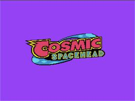 Title screen of Cosmic Spacehead on the Nintendo NES.