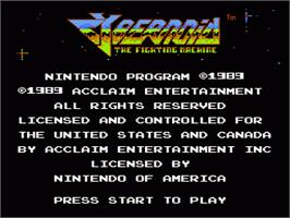 Title screen of Cybernoid: The Fighting Machine on the Nintendo NES.
