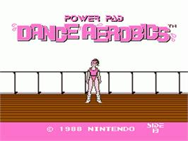 Title screen of Dance Aerobics on the Nintendo NES.