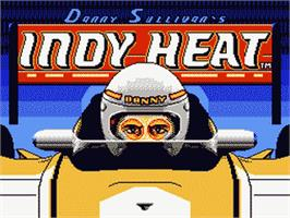 Title screen of Danny Sullivan's Indy Heat on the Nintendo NES.