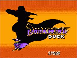 Title screen of Darkwing Duck on the Nintendo NES.