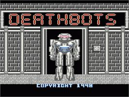 Title screen of Deathbots on the Nintendo NES.