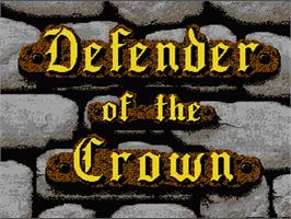Title screen of Defender of the Crown on the Nintendo NES.