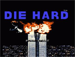 Title screen of Die Hard on the Nintendo NES.