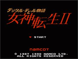 Title screen of Digital Devil Monogatari: Megami Tensei 2 on the Nintendo NES.